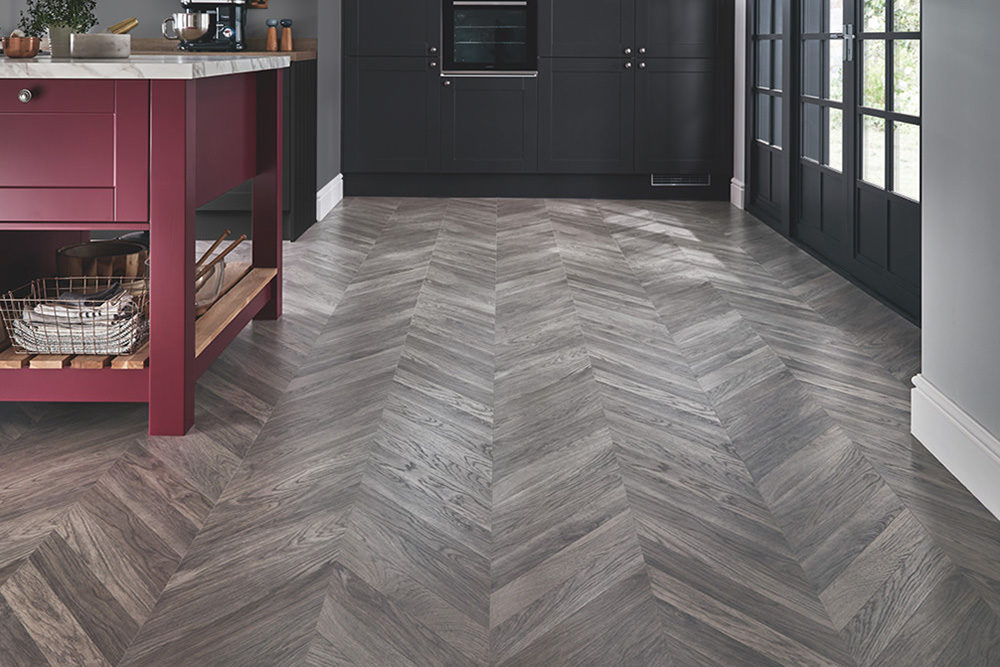 Edge of Slate Tile Flooring