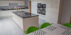 Edge of Slate Tile Flooring